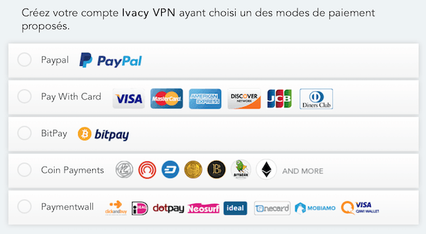 Ivacy VPN Payments