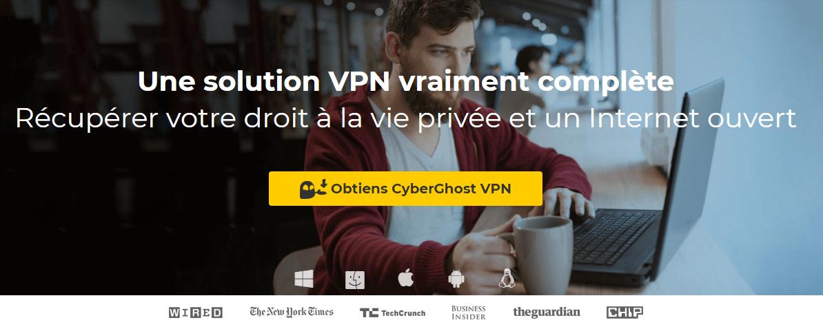 CyberGhost VPN Accueil