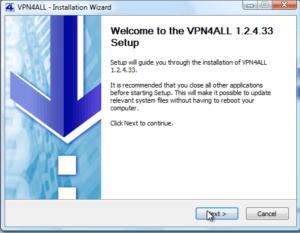 installation vpn4all
