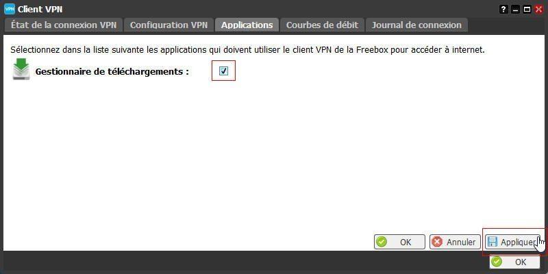 La configuration du client VPN de la Freebox 10