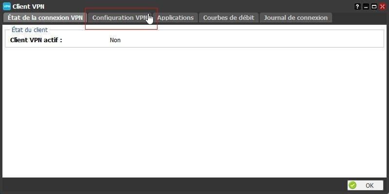 La configuration du client VPN de la Freebox 4