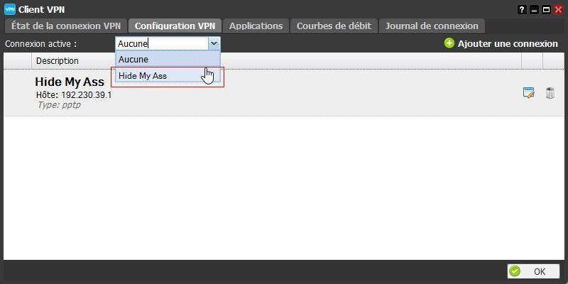 La configuration du client VPN de la Freebox 7
