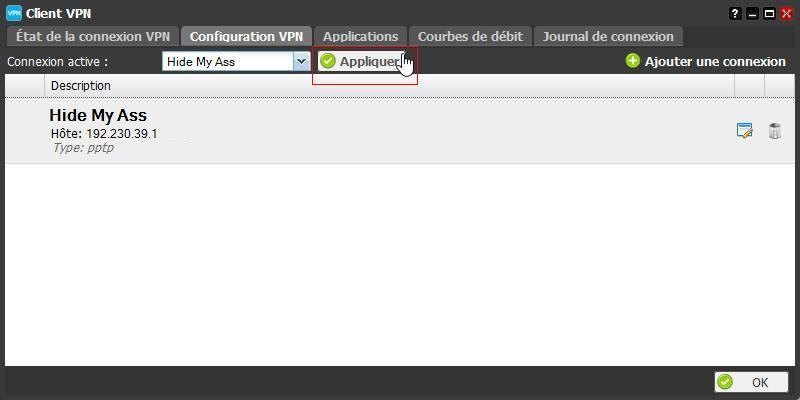 La configuration du client VPN de la Freebox 8
