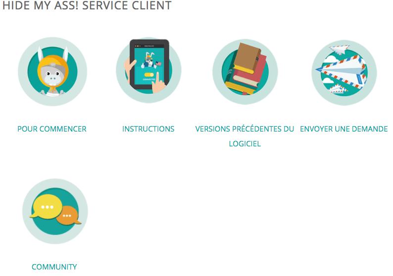 Service client Hidemyass