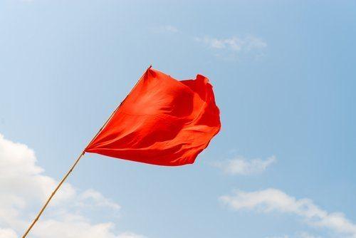Drapeau rouge pour Beckham
