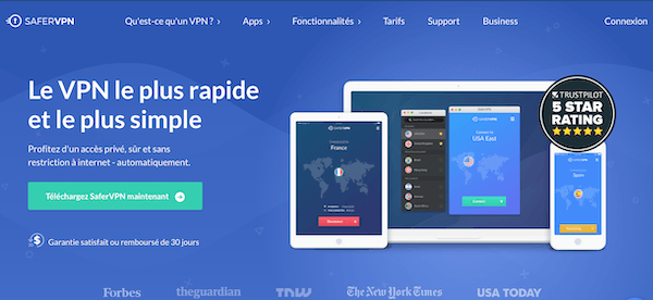 SaferVPN pour Voir le Tennis en Streaming en Direct