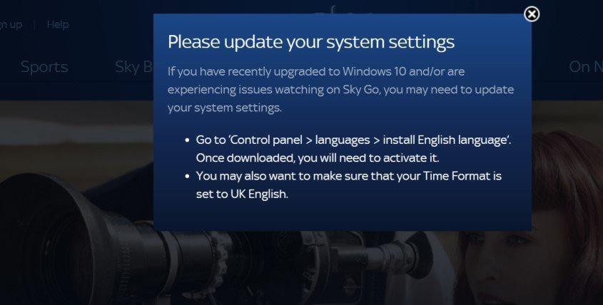 Sky Go est limité aux utilisateurs britanniques et irlandais