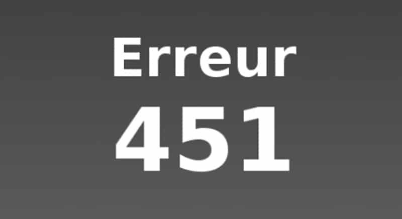 Contourner Erreur451 grâce aux VPN
