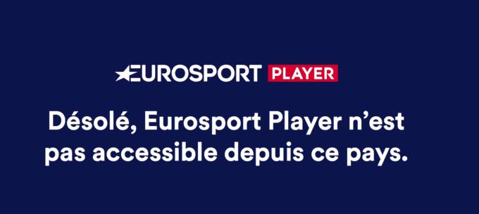 message indiquant le blocage de eurosport
