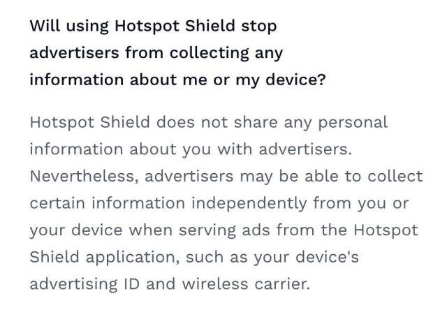 Avis HotspotShield VPN