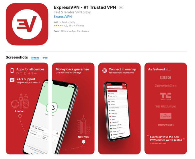 express vpn iphone