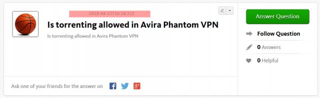 Avis Avira VPN