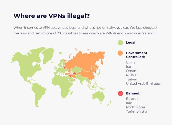 11 pays qui ont interdit ou limité l'utilisation des VPN